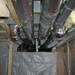 Basement Remodel 1:  Installed duct work.