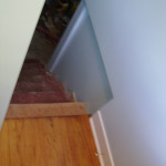Basement stairway after 2011